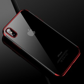 CAFELE Softcase Transparant for iPhone X - Red