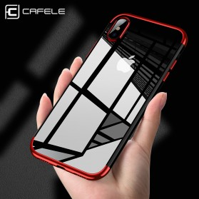CAFELE Softcase Transparant for iPhone X - Red - 2