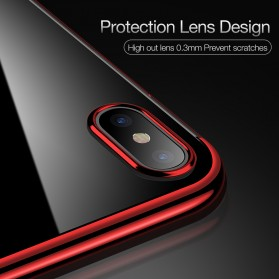 CAFELE Softcase Transparant for iPhone X - Red - 5