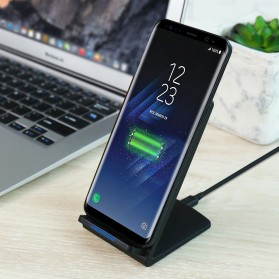 Floveme Qi Wireless Charger Stand for Smartphone - Black - 2
