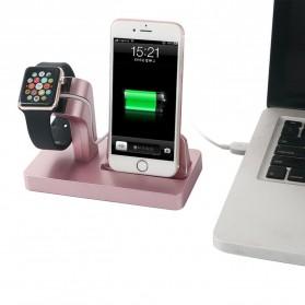 Syrinx Charging Docking for Apple Watch + iPhone Lightning  - RF07608 - Black - 7