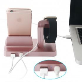 Syrinx Charging Docking for Apple Watch + iPhone Lightning  - RF07608 - Black - 8