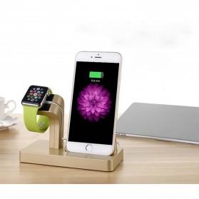 Syrinx Charging Docking for Apple Watch + iPhone Lightning  - RF07608 - Black - 9