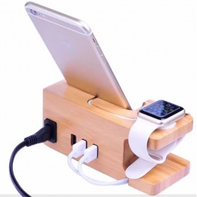 Multifunction Charging Dock for Smartphone and Apple Watch - 1