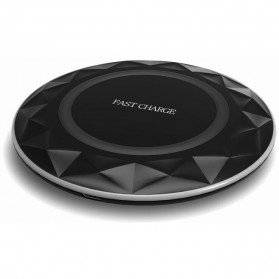 Ultra Thin Diamond Qi Wireless Fast Charger 5V 1A - FC17 - Black