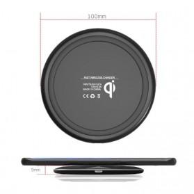 Ultra Thin Diamond Qi Wireless Fast Charger 5V 1A - FC17 - Black - 7