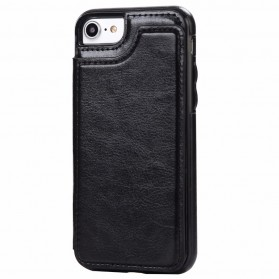 Leather Smartphone Case with Mini Wallet for iPhone 7 Plus / 8 Plus - Black