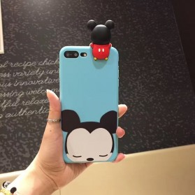 Casing 3D Cartoon Disney Tsum Tsum for iPhone 7 Plus / 8 Plus - Sky Blue
