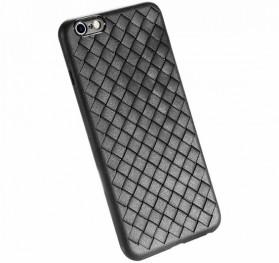 Braided Softcase TPU Model Anyam for iPhone 6 Plus / 6S Plus - Black