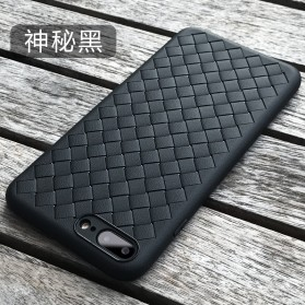 Braided Softcase TPU Model Anyam for iPhone 7 Plus / 8 Plus - Black - 1