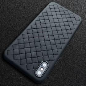 Braided Softcase TPU Model Anyam for iPhone X - Black