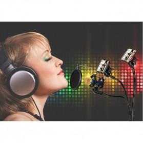 Fleksibel Stand Mikrofon & 2 x Lazypod Smartphone Holder - KH-28 - Black - 3