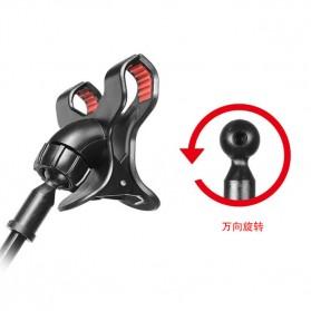 Fleksibel Stand Mikrofon & 2 x Lazypod Smartphone Holder - KH-28 - Black - 6