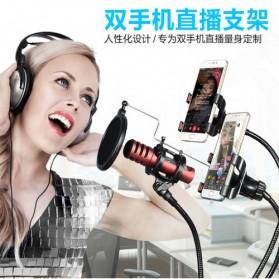 Fleksibel Stand Mikrofon BOP dan 2 x Lazypod Smartphone Holder Universal - Black - 2