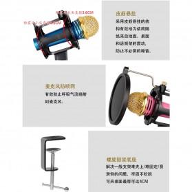 Fleksibel Stand Mikrofon BOP dan 2 x Lazypod Smartphone Holder Universal - Black - 3