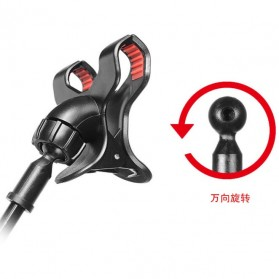 Fleksibel Stand Mikrofon dan Lazypod Smartphone Holder Universal - NB-22 - Black - 4