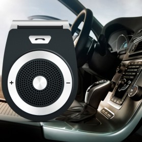 Bluetooth Handsfree Speaker Car Kit - Black - 6