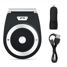 Bluetooth Handsfree Speaker Car Kit - Black - 8