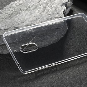 Luxury Ultra Thin TPU Case for Nokia 6 - Transparent - 6