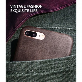 X-Level Vintage Leather Case for iPhone 7/8 - Black - 4