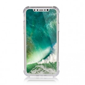 Anti Crack TPU Softcase for iPhone X - Transparent - 2
