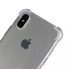 Anti Crack TPU Softcase for iPhone X - Transparent - 3