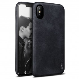 X-Level Vintage Leather Case for iPhone X - Black