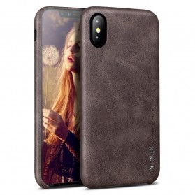 X-Level Vintage Leather Case for iPhone X - Brown