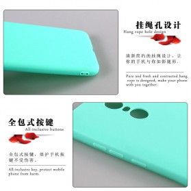 Solid TPU Silicone Softcase for for Xiaomi Mi5s Plus - Black - 3