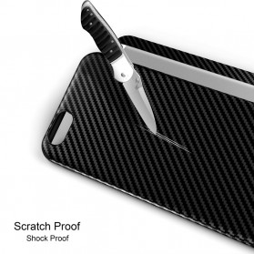 Anti Knock Carbon Fiber Softcase Protector for iPhone X - Brown - 6