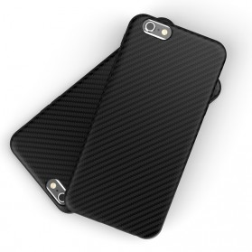 Anti Knock Carbon Fiber Softcase Protector for iPhone X - Navy Blue - 3