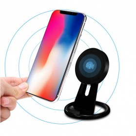 Magnetic Qi Wireless Charger 5V 1A with Stand Function - Black