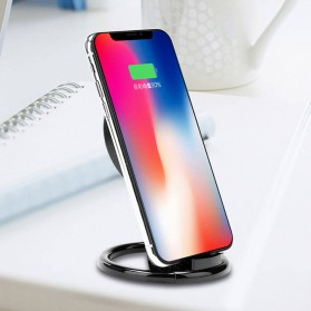 Magnetic Qi Wireless Charger 5V 1A with Stand Function - Black - 2