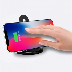 Magnetic Qi Wireless Charger 5V 1A with Stand Function - Black - 3
