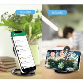 Magnetic Qi Wireless Charger 5V 1A with Stand Function - Black - 5