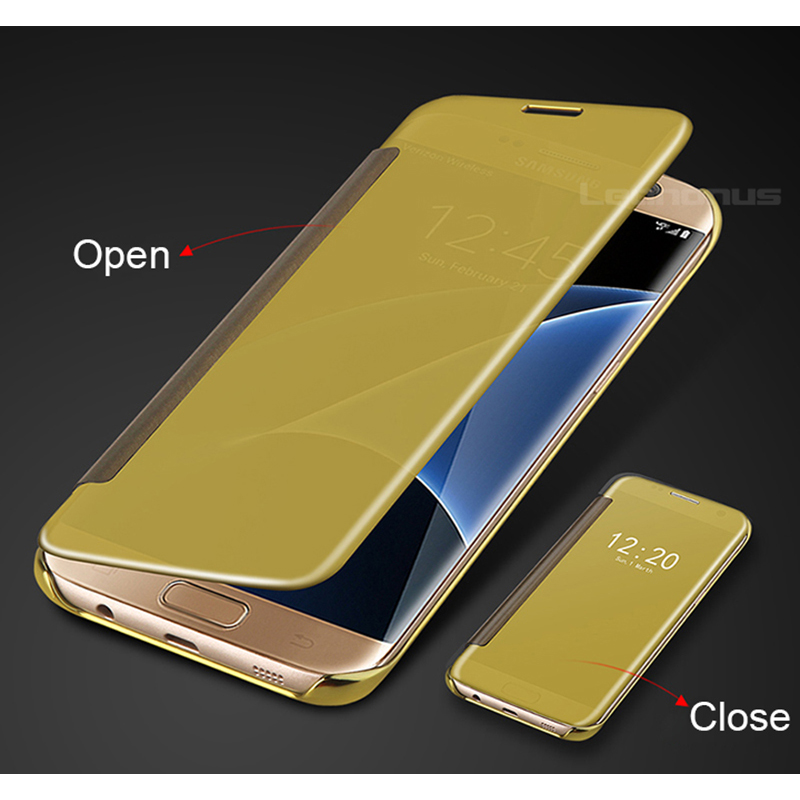 Clear View Case Flip Cover For Samsung Galaxy A8 2018