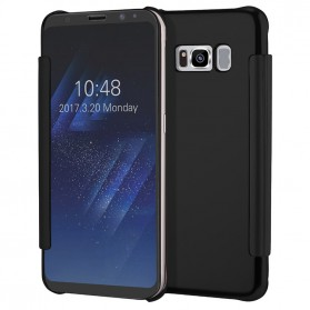 Clear View Case Flip Cover for Samsung Galaxy S9 - Black - 2