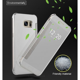 Clear View Case Flip Cover for Samsung Galaxy S9 - Black - 6