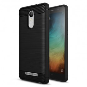 Carbon Fiber TPU Case Protector for Xiaomi Note 3 - Black