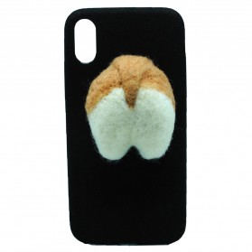 Case Corgy Butt Soft Case for iPhone X - Black