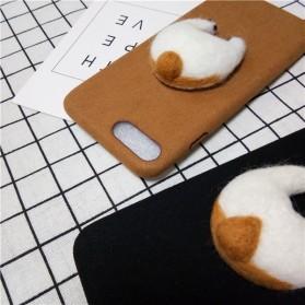 Case Corgy Butt Soft Case for iPhone 8 Plus - Black - 3