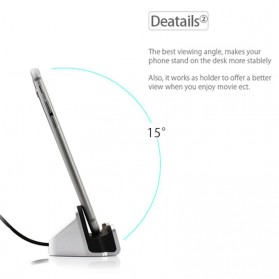 Charging Dock Magnetic Lightning iPhone - Black - 5
