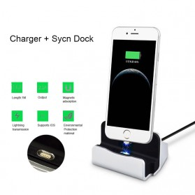 Charging Dock Magnetic Lightning iPhone - Black - 8