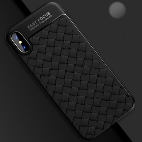 TOTU Wave Grid TPU Softcase for iPhone X - Black