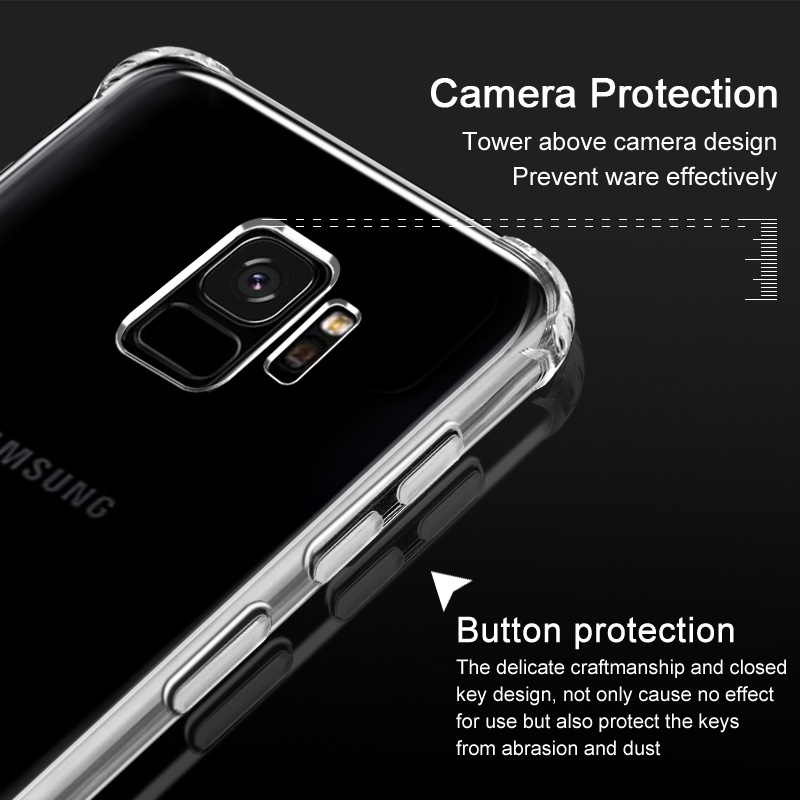 low priced 5847d 32ca8 Anti Crack Case for Samsung Galaxy S9 Plus - Transparent