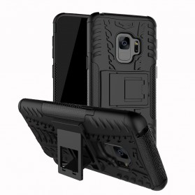 Hard Armor Case with  Kickstand for Samsung Galaxy S9 - Black - 1