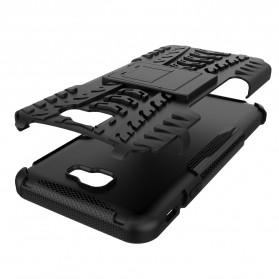 Hard Armor Case with  Kickstand for Samsung Galaxy S9 - Black - 3