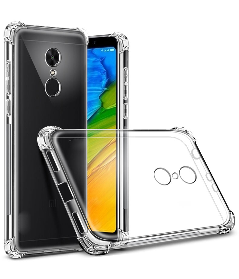 pretty nice b86e7 4b749 Anti Crack Case for Xiaomi Redmi 5 Plus - Transparent