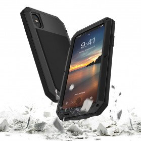 Full Protective Heavy Duty Armor Case for iPhone X - Black - 3