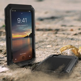 Full Protective Heavy Duty Armor Case for iPhone X - Black - 4